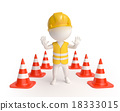 Worker with traffic-cones 18333015