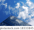 Office building sky and cloud reflection 18333845