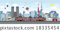 Tokyo Symbol Image Illustration 18335454