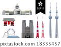 โตเกียว,ไอคอน,ประเทศญี่ปุ่น 18335457