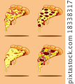 Pizza Slices Collection. Vector Design 18338317