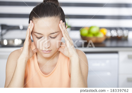 Stock Photo: Stressed housewife