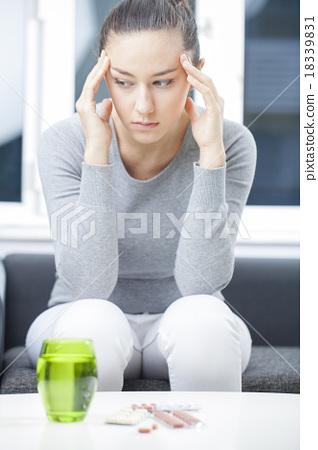 Stock Photo: Depressed woman