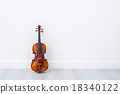 Classical cello on white wall background 18340122