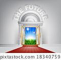 future, concept, door 18340759