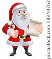 santa christmas cartoon 18340762