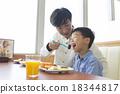 吃 午飯 親子 18344817