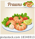Prawns. Detailed Vector Icon 18346913