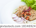 Crispy catfish salad on white dish 18346924