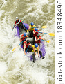 Numerous Family On Whitewater Rafting Trip 18348496
