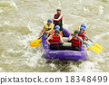Numerous Family On Whitewater Rafting Trip 18348499