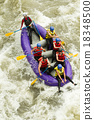 Numerous Family On Whitewater Rafting Trip 18348500