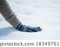 雪 下雪的 手套 18349701
