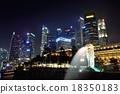 高層建築 魚尾獅 新加坡 18350183