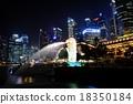 高層建築 魚尾獅 新加坡 18350184