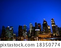 新加坡 夜景 高層建築 18350774