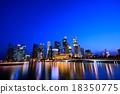 新加坡 夜景 高層建築 18350775