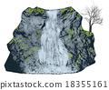 waterfall on white 18355161