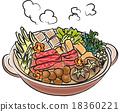 鍋裡煮好的食物 燉湯 用鍋烹飪 18360221