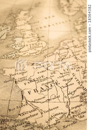 古董世界地圖法國 18364382
