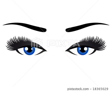 blue eyes with long eyelashes 18365029
