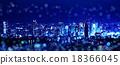 도쿄 신주쿠의 야경 판타지 이미지 18366045