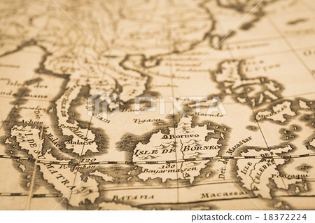 World Map Of Southeast Asia.Antique World Map Southeast Asia Stock Photo 18372224 Pixta
