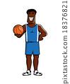 籃球 選手 卡通 18376821