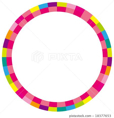 圆框多彩粉红色 18377653