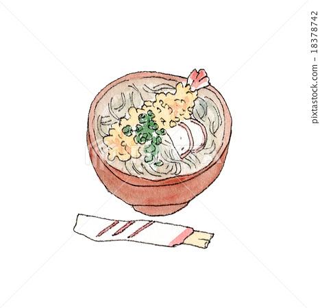 新年荞麦面 荞麦面 日本食品 18378742