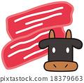 薄片 奶牛 牲口 18379663