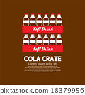 Flat Design Cola Crate Stack. 18379956