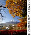 富士山 紅葉 黃葉 18382194