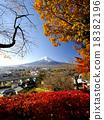 富士山 雪冠 风景 18382196