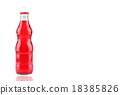 bottle of  strawberry Fanta glass soda isolated  18385826