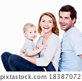family, happy, baby 18387072