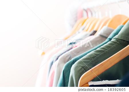 Stock Photo: Pastel Color Clothes. Female Dresses