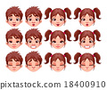 Different expressions of boy and girl 18400910