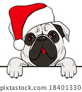 Dog Christmas Hat 18401330