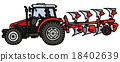 Tractor with a plow 18402639