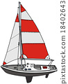 Small sailing yacht 18402643