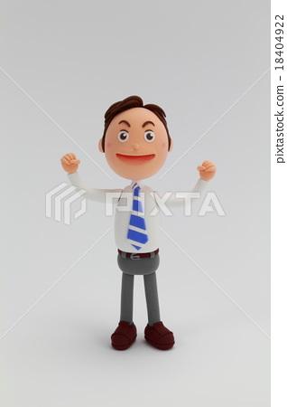 Clay doll businessman men 18404922