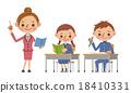 여교사와 중학생 (고등학생) 남녀 18410331