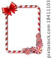 Frame made of candy cane 18411103