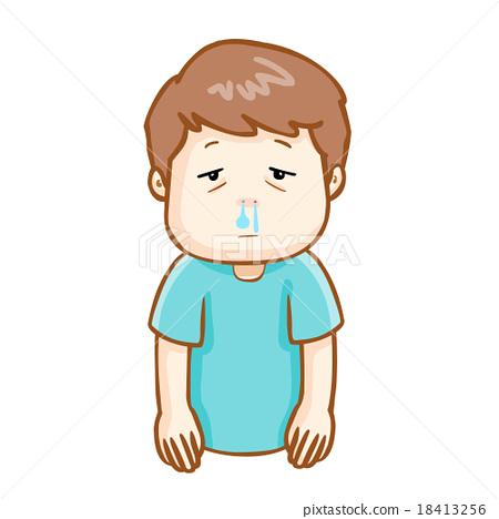 Ill Man Runny Nose Cartoon Vector Stock Illustration 18413256 Pixta