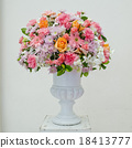 Glass vase with flowers, a beautiful ornament 18413777