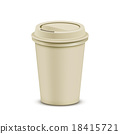 Plastic coffee cup 18415721
