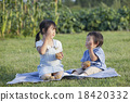younger brother, picnic, muffin 18420332