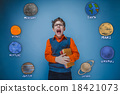boy with glasses and a gray vest screaming opened 18421073