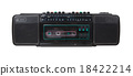 Vintage radio cassette recorder 18422214